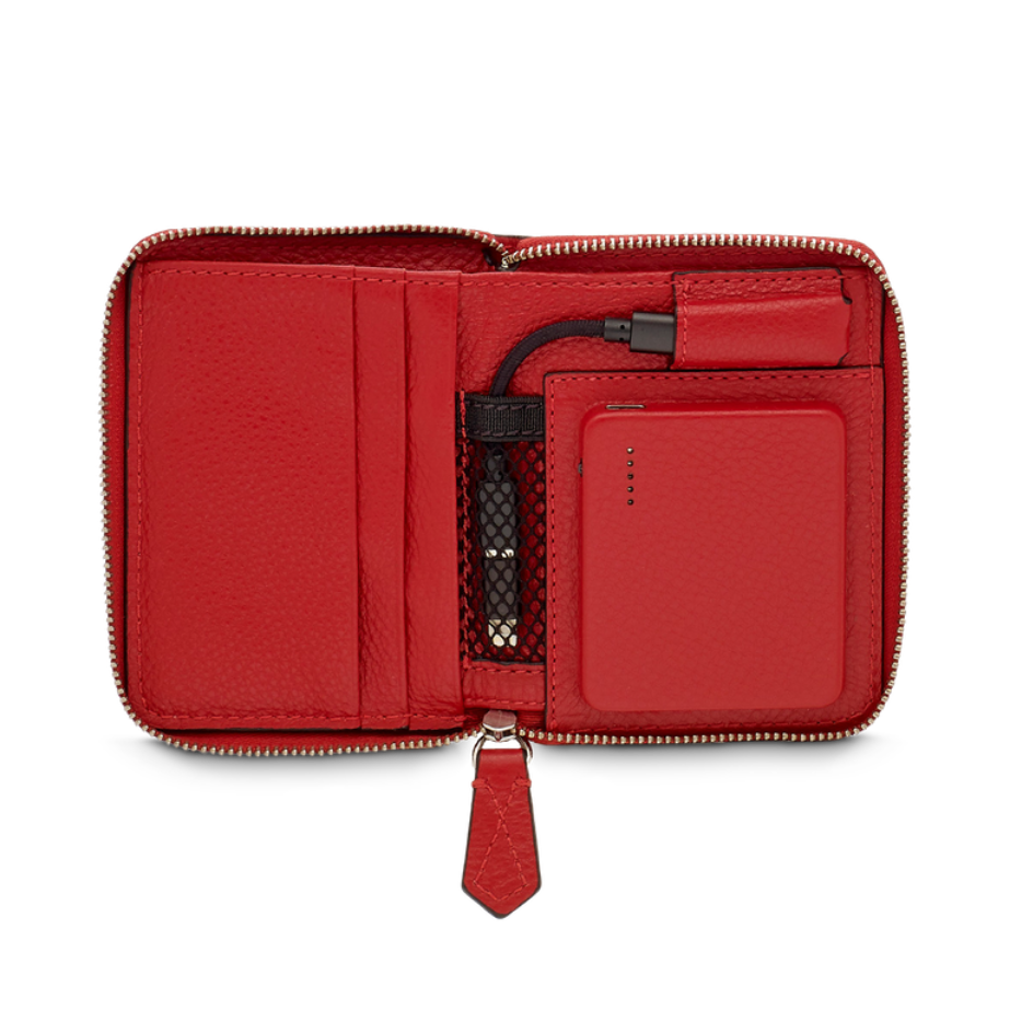 Lancel red wallet innovation product De Rigueur