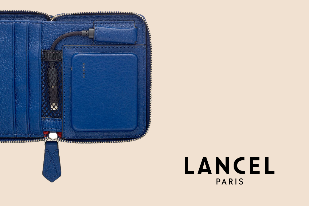 Lancel SIGNATURE blue leather product innovation by De Rigueur